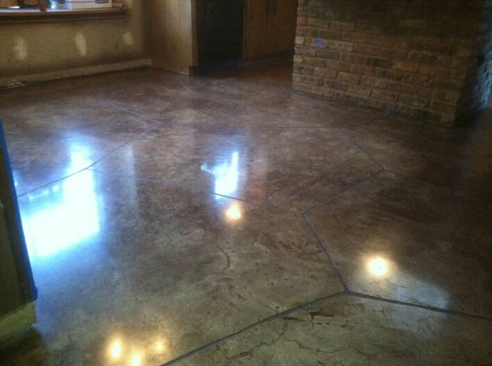 Remi stained concrete floor college station austin tx for Stained polished concrete floor